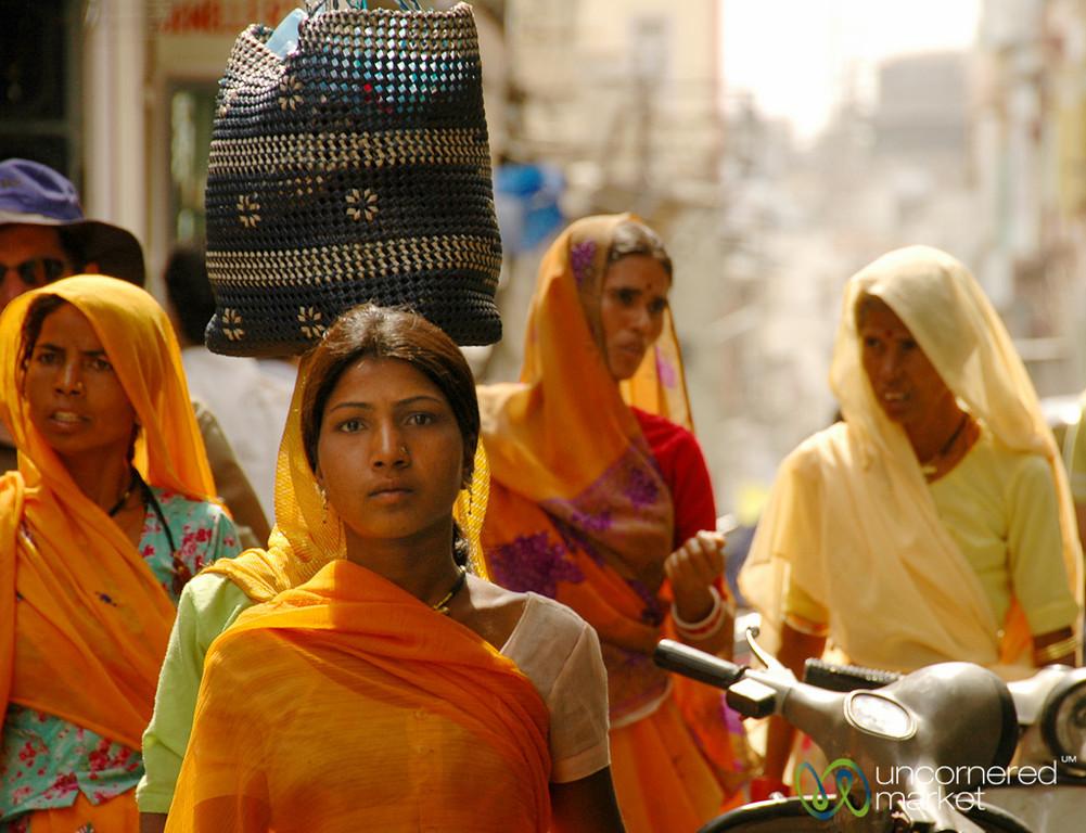 Street Scene in Udaipur's Market - Rajsasthan, India