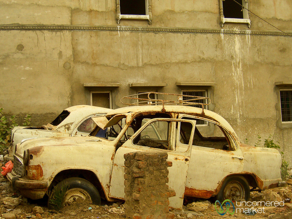 Where Old Cars Go to Die - Udaipur, India