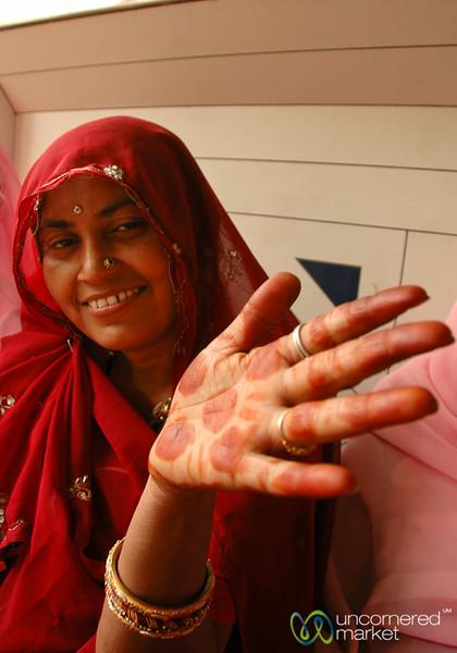Mehndi Hands - Udaipur, India
