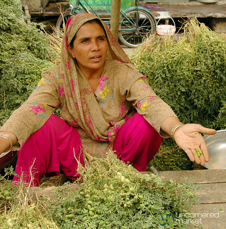 Piles and Piles of Greens at the Market - Udaipur, India