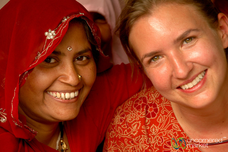 Audrey and a New Friend in Udaipur, India
