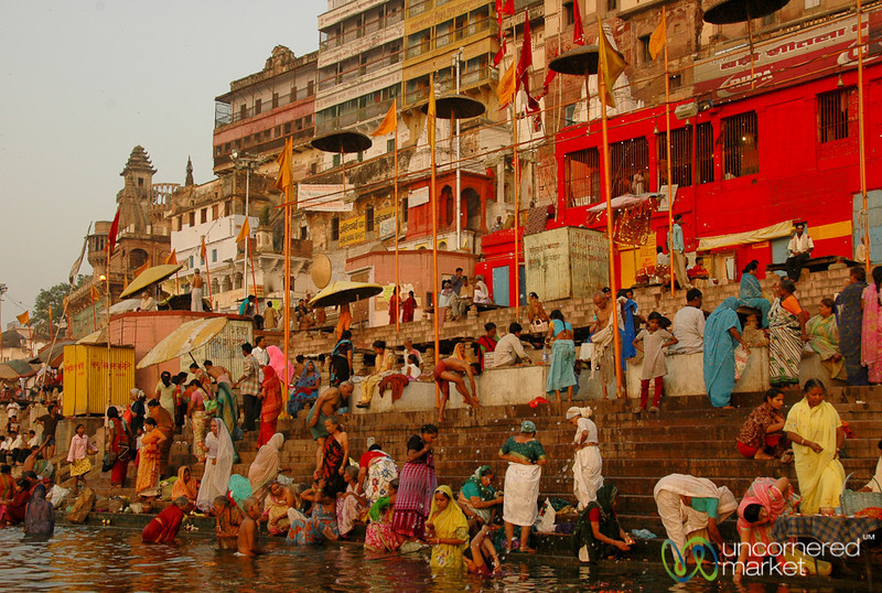 Early Morning Prayers (Puja) and Bathing in the Ganges - Varanasi, India