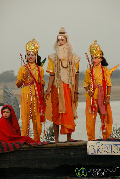 Some Sort of Play Performed Along the Ganges River - Varanasi, India