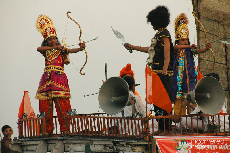 Acting Out a Hindu Play - Varanasi, India