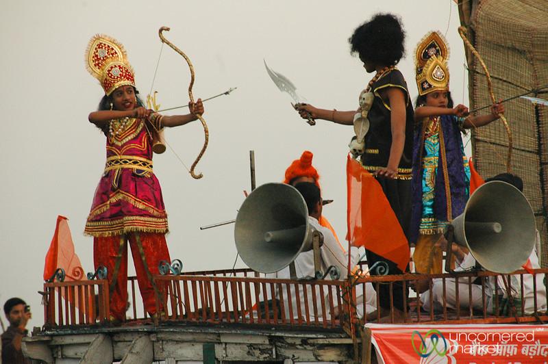 Acting Out a Hindu Play - Varanasi, India