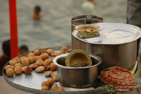 Snacking Along the Ghats in Varanasi, India