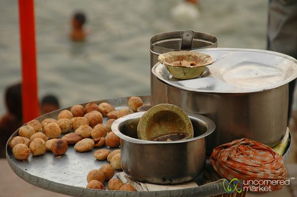 Snacking Along the Ghats in Varanasi, India