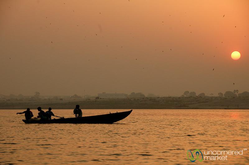 Sunrise Along the Ganges River - Varanasi, India