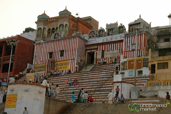 Colorful Kedar Ghat - Varanasi, India