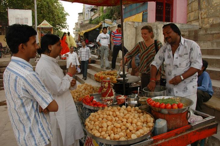Indian Street Food Stand - Varanasi, India