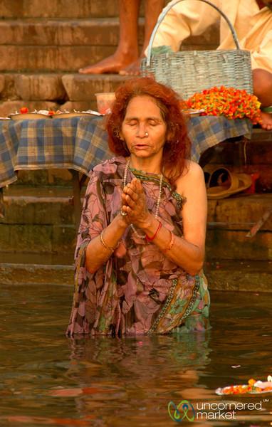 Morning Prayer (Puja) - Varanasi, India