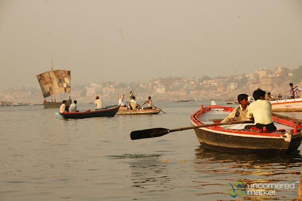 Early Morning Boat Rides Along the Ganges - Varanasi, India