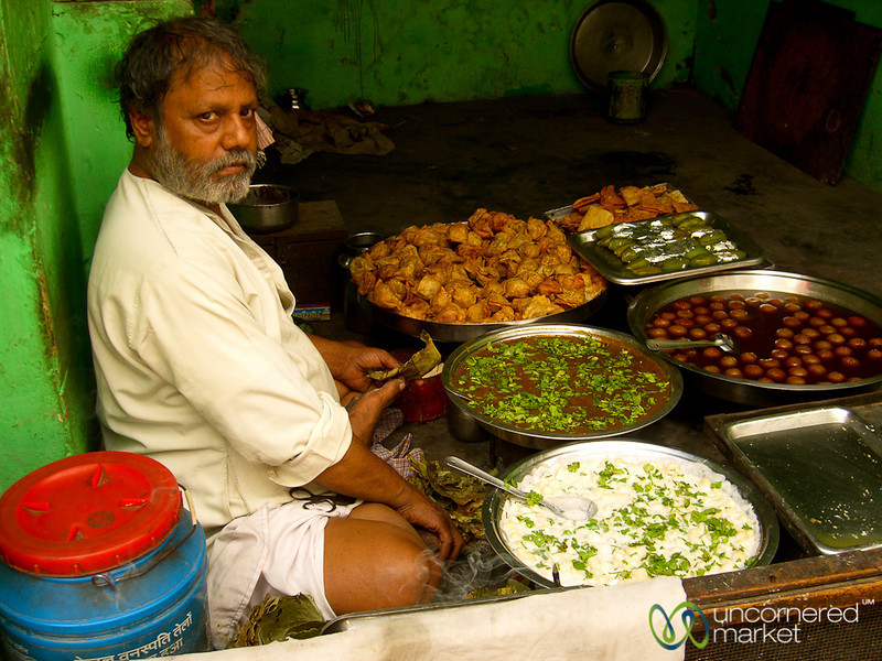 A Selection of Savory & Sweet Snacks - Varanasi, India
