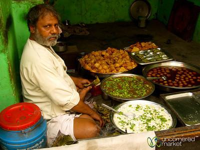 A Selection of Savory & Sweet Snacks - Varanasi, India