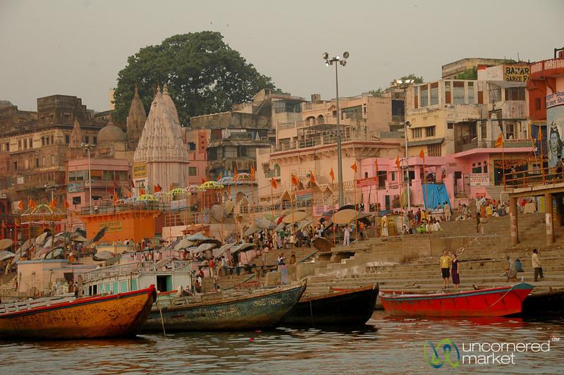 The Day Starts Along the Ganges River - Varanasi, India