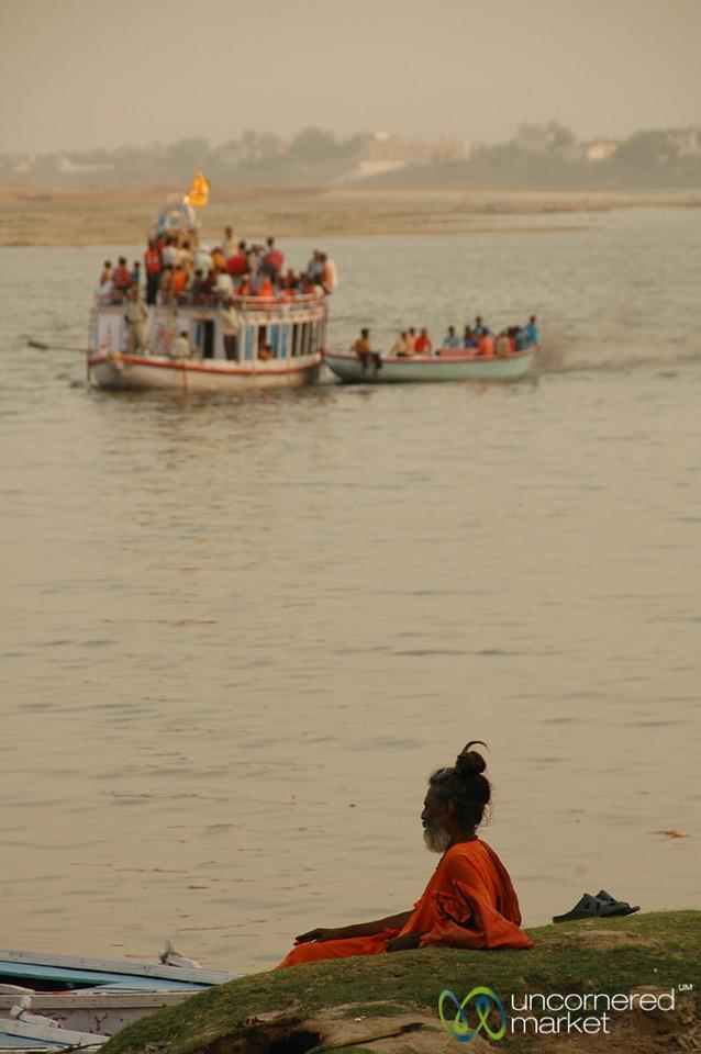 Sadhu Waiting Waiting at the Ganges River - Varanasi, India