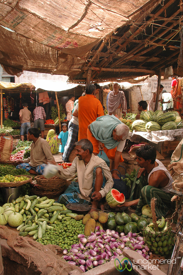 Vegetable Market in Varanasi, India
