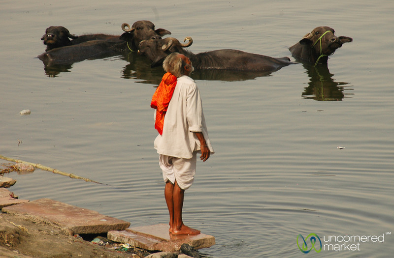 Prayers along the Ganges River - Varanasi, India