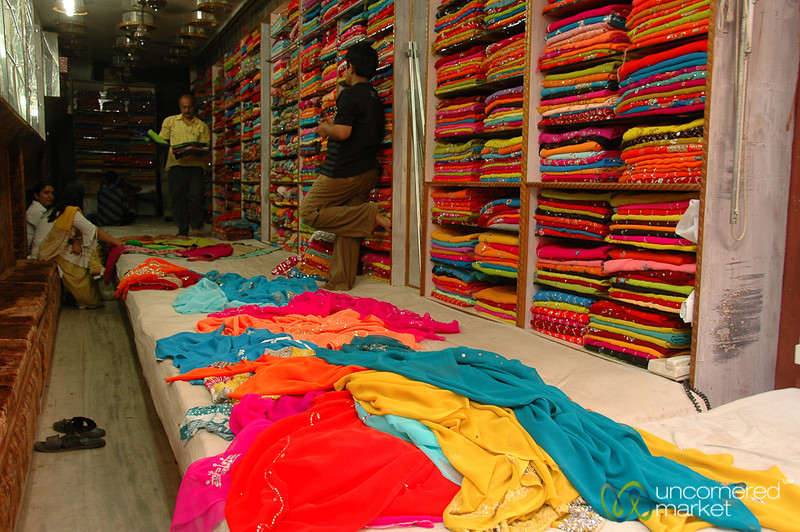 Sari Shop in Varanasi, India