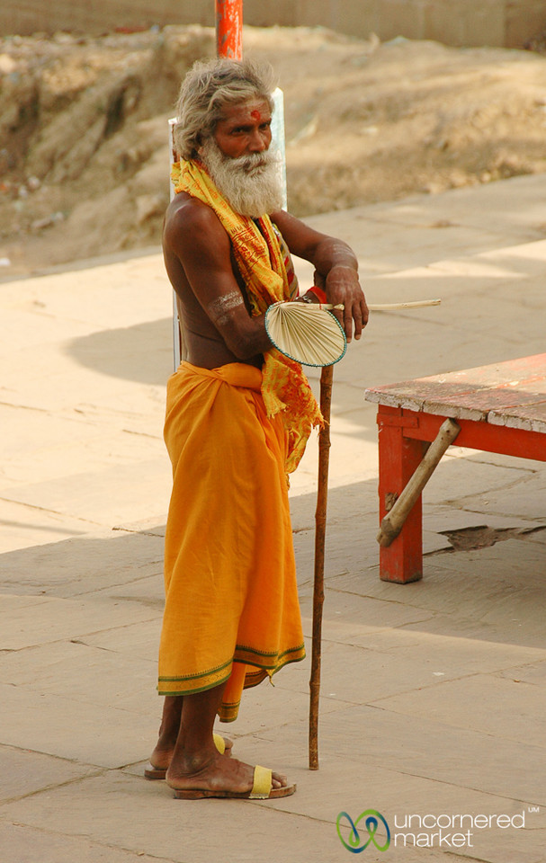Sadhu Along the Ghats - Varanasi, India