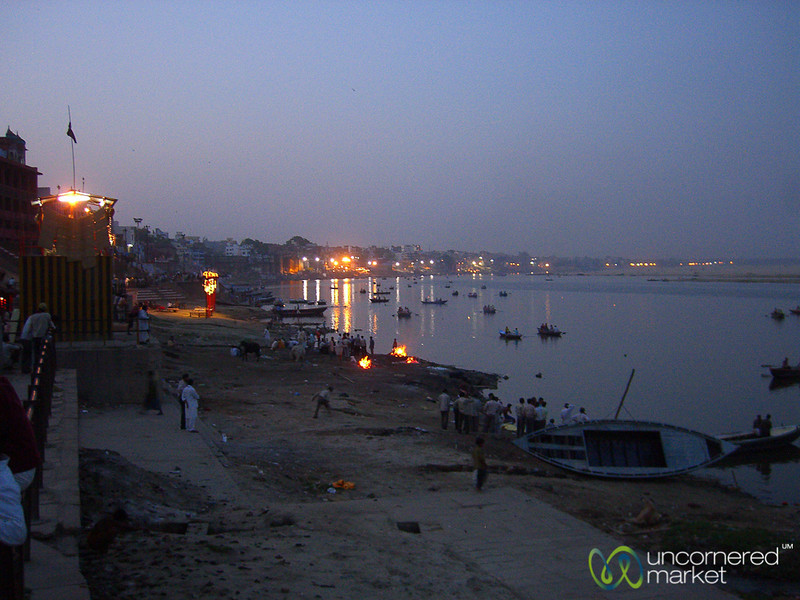 Dusk Along the Ghats in Varanasi, India