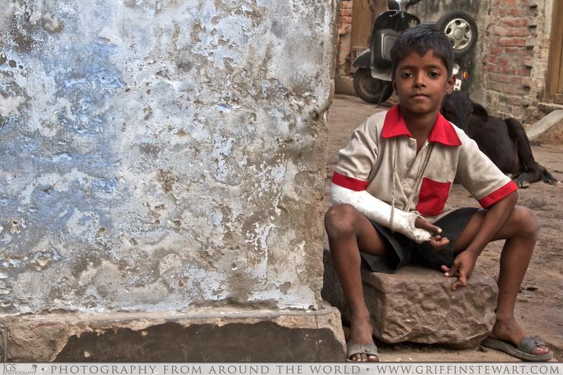 The Boy With The Broken Arm - Varanasi, India