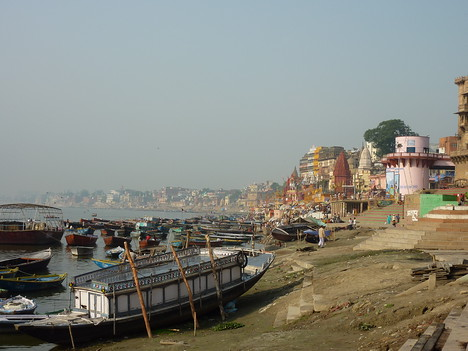 Boats on the ghats, Varanasi - India