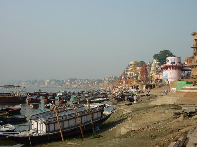 Boats on the ghats, Varanasi - India