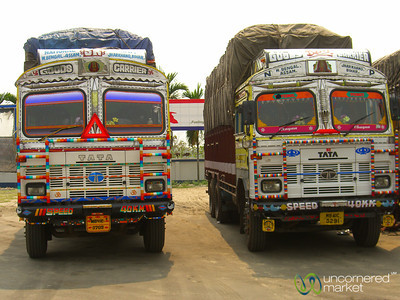 Truck Stop Outside Siliguri, India