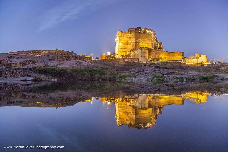 Mehrangarh Fort, Jodphur, Rajasthan, India.