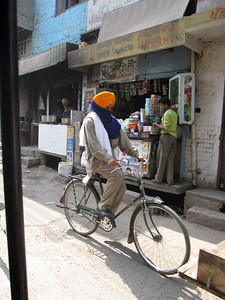 Punjabi Man on Bicycle