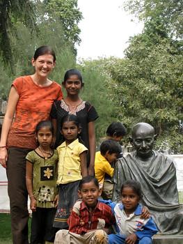 Kids at the Ashram in India