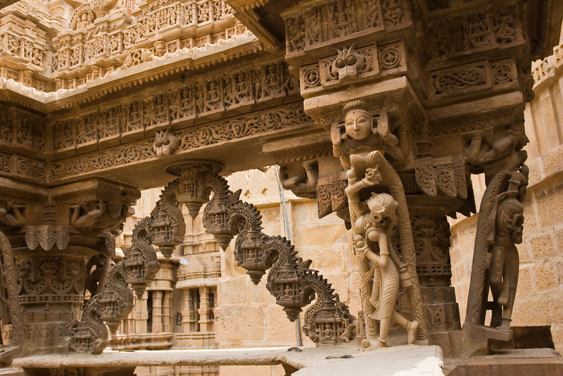 An nice example of the intricate stone carving found inside a Jain temple.<br /> <br /> Location: Jaisalmer, India<br /> <br /> Lens used: 17-40mm f4.0