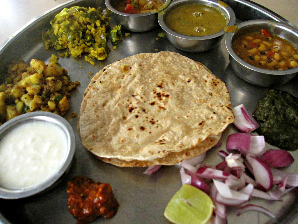 a traditional indian thali