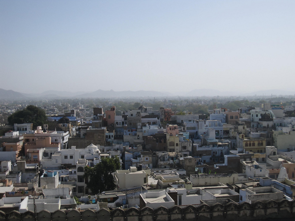 Views over the city of Udaipur, India
