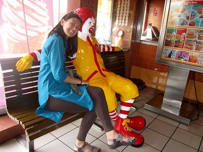 Wearing my kurta at a McDonalds in India