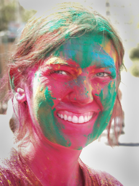 Holi colors at Jaipur for the Festival of Colors