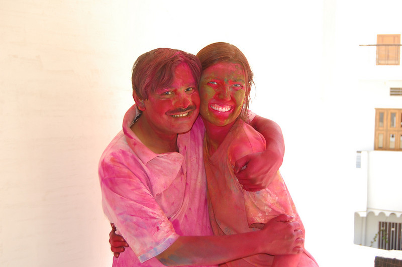 Our guesthouse owner for Holi was fantastic.