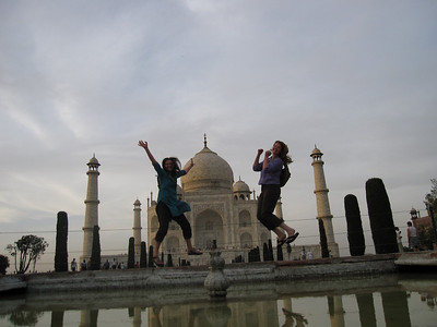 Celebrating at the Taj