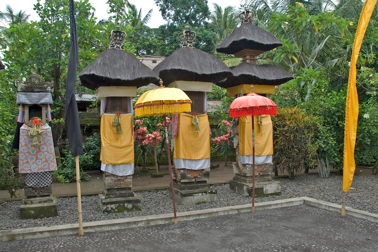 Colorful Balinese Family Shrine in Indonesia
