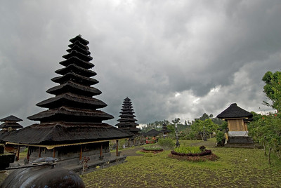 Pagodas inside the Mother Temple of Besakih in Bali