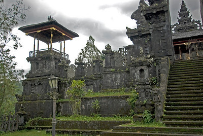 Details of ruins inside Mother Temple of Besakih in Bali, Indonesia