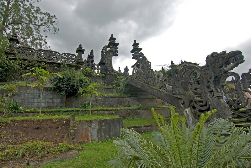 Beautiful shrine and art at the steps of Mother Temple of Besakih in Bali