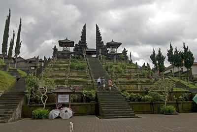 Steps leading to Mother Temple of Besakih in Bali, Indonesia