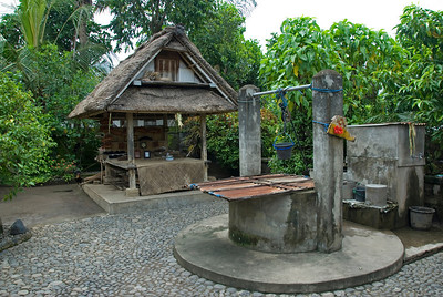 Family Well at a traditional Bali House in Indonesia