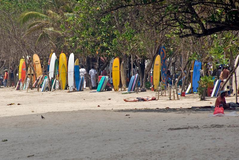 Colorful surf boards in Kuta Beach, Bali, Indonesia