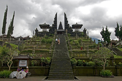 Steps to Mother Temple of Besakih in Bali, Indonesia