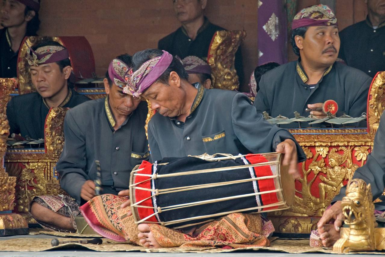 Drummers at Barong Dance in Bali, Indonesia