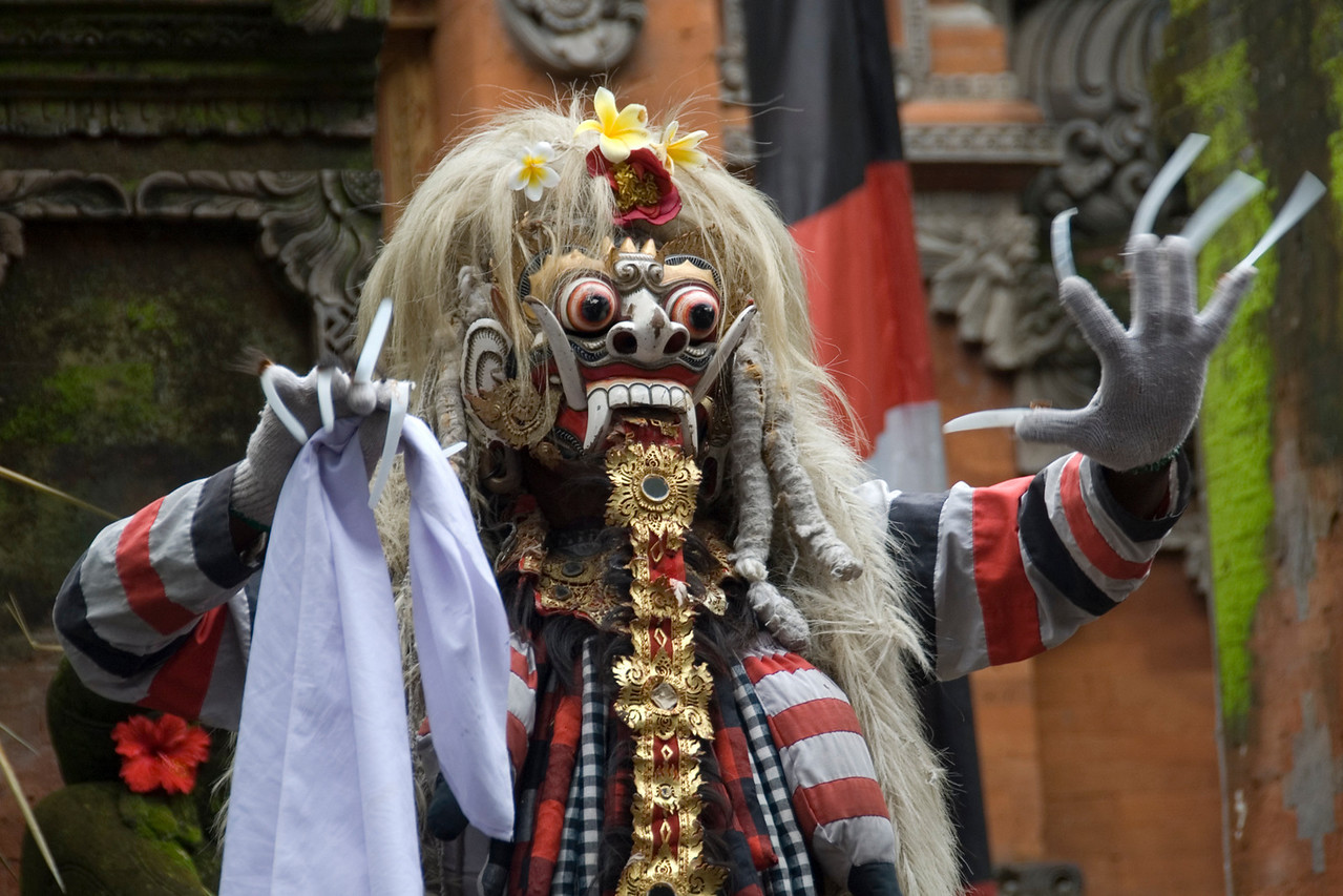 Evil Barong Character spotted in Bali, Indonesia