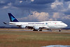 PK-GSG Boeing 747-4U3 c/n 25704 Frankfurt/EDDF/FRA 08-06-97 (35mm slide)